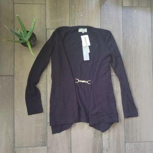 Joan Vass black cardigan sweater XS